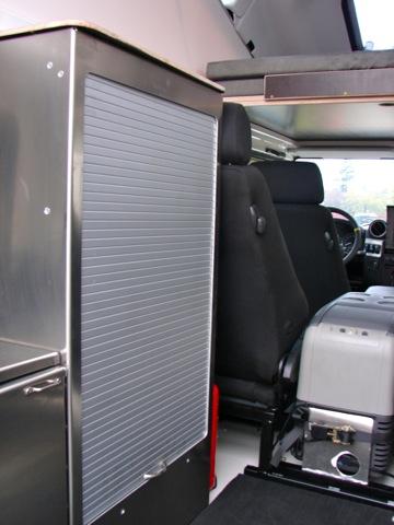 rr concept meuble de rangement en aluminium, avec étagères pour land - Meuble Cuisine Rideau