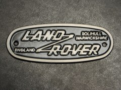 Plaque logo Land Rover Old Style