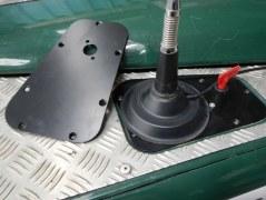Plaque pour aile Defender support antenne et/ou coupe circuit - commande de treuil