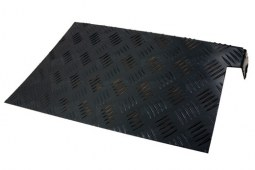 Protections d'ailes arrière noires en aluminium pour Defender 110 (2mm)
