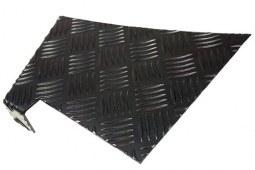 Protections d'ailes arrière noires en aluminium pour Defender 90 (2mm)