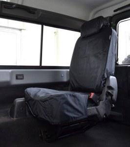 Paire de housses étanches noires pour sièges arrière indépendant - Defender Td4