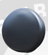 Housse de roue de secours rigide - 235X85X16