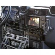 Console pour autoradio double din pour Defender TD4