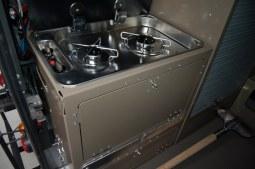 Ensemble meuble cuisinière amovible aluminium 2 feux gaz - RRC