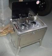 Meuble cuisinière extérieure aluminium, 2 feux gaz - RRC