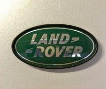 Plaque logo Land Rover Vert et Argent