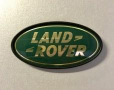 Plaque logo Land Rover Vert et Or
