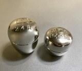 Kit 2 pommeaux aluminum Td5 et 300 Tdi alu