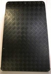 Protection en aluminium noir pour capot de Defender (jusqu'à 2006)