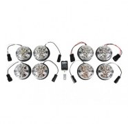 Kit 8 feux led Defender blancs (cristal)