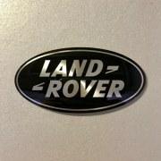 Plaque logo Land Rover Noir et Argent