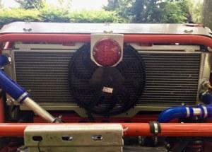 Kit radiateur + ventilateurs arrière avec armature et racordements pour can-am X3