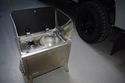 Ensemble meuble cuisinière amovible aluminium RRC
