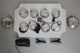 Kit 13 feux led Defender blancs (cristal)