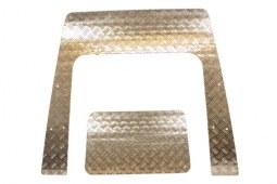 Protections en deux parties en aluminium noir pour capot de Defender (depuis 2007)