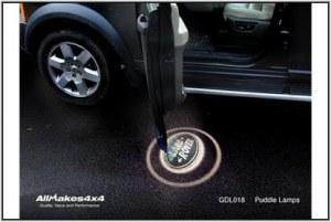 Paire faisceaux éclairage logo Land Rover sous portières
