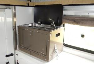 Meuble cuisinière amovible aluminium RRC intérieur/extérieur pour cellule