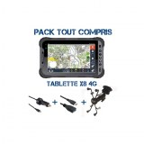GPS 4X4 tablette étanche renforcée Globe X8 4G pack
