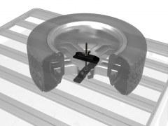 Support roue de secours bas pour Galerie Front Runner