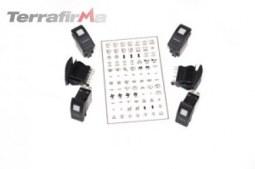 Kit de six interrupteurs noirs pour tableau de bord Defender